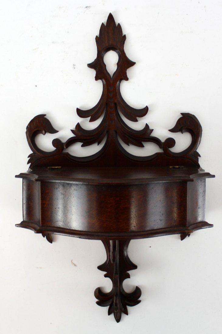 English Victorian what not wall shelf - 3