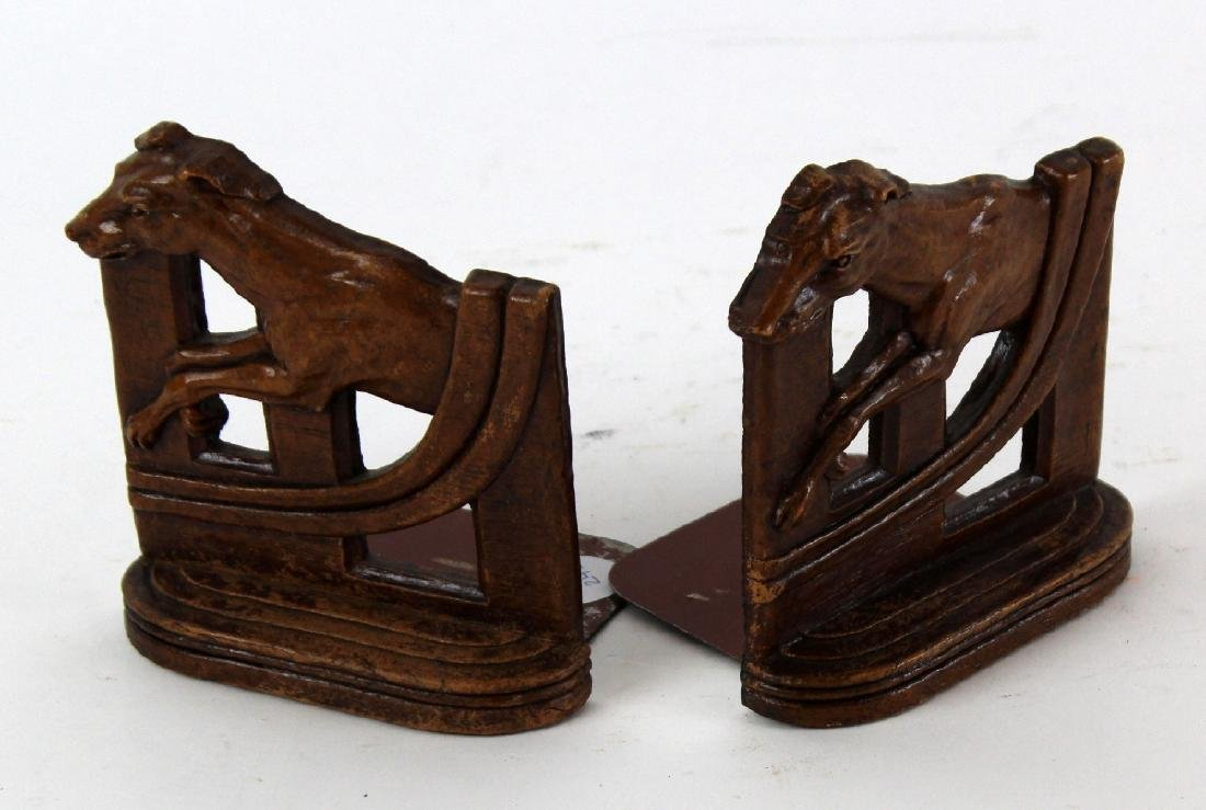 Pair of vintage carved wood bookends - 4