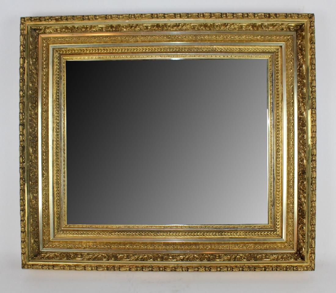 Early 20th century gold leaf mirror