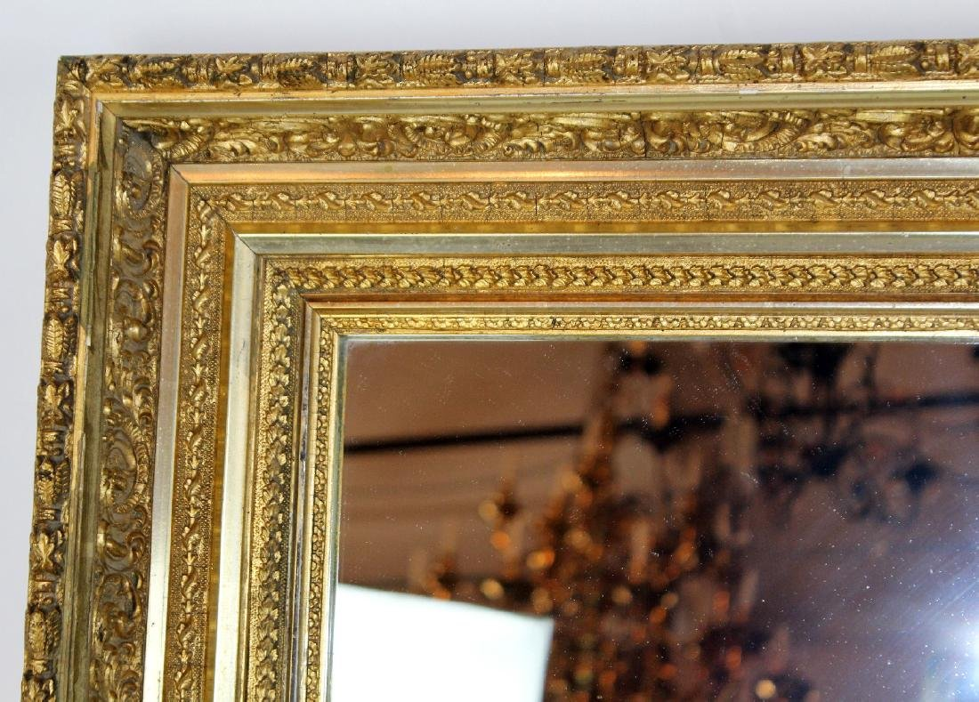 Early 20th century gold leaf mirror - 3