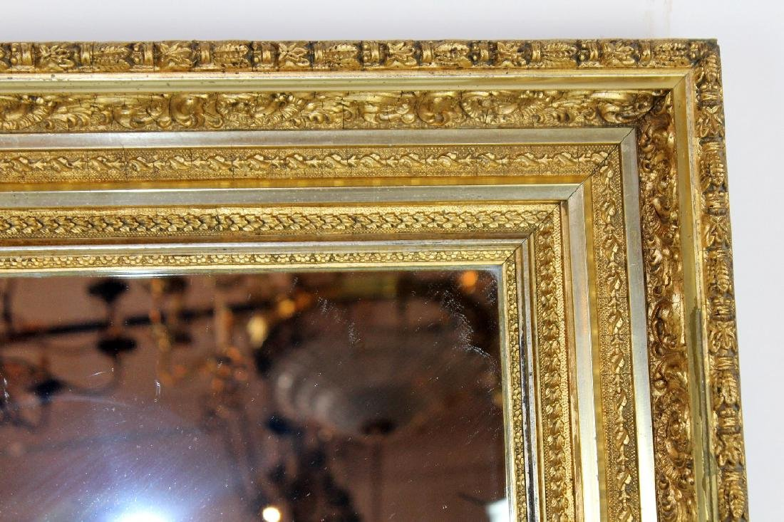 Early 20th century gold leaf mirror - 4