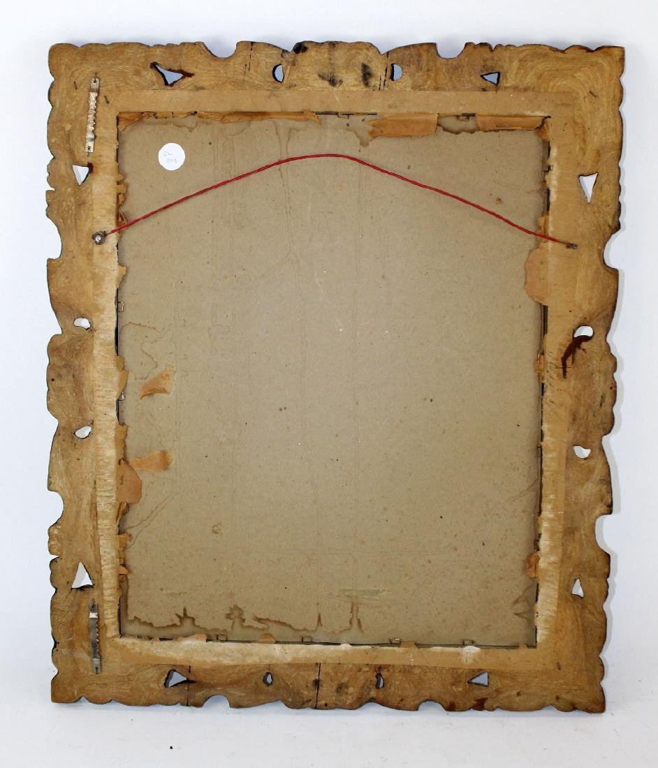 Carved English framed mirror - 2