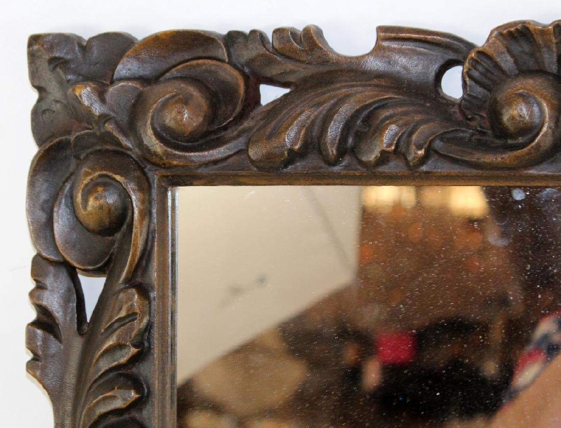 Carved English framed mirror - 3