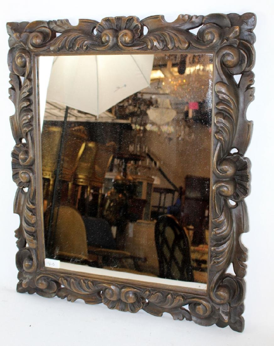 Carved English framed mirror - 4