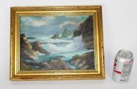 Oil on artist board of a seascape
