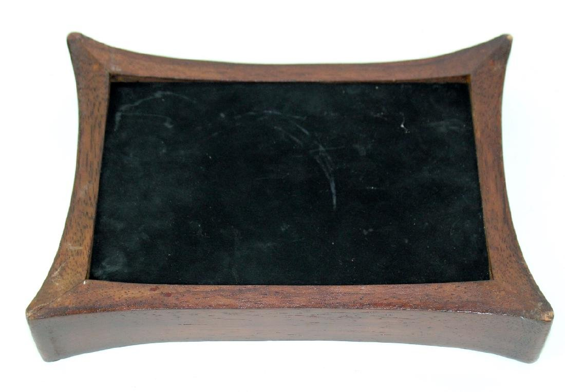 Mahogany and stingray leather box - 2