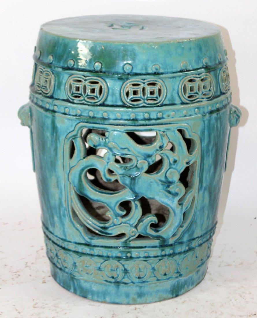 Chinese glazed ceramic garden seat
