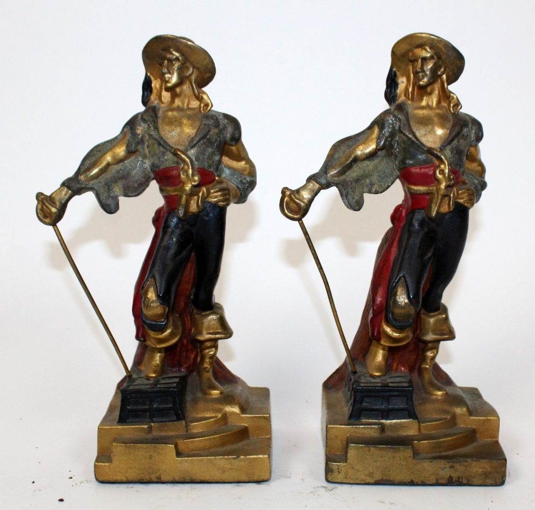 Pair of  Art Deco pirate bookends