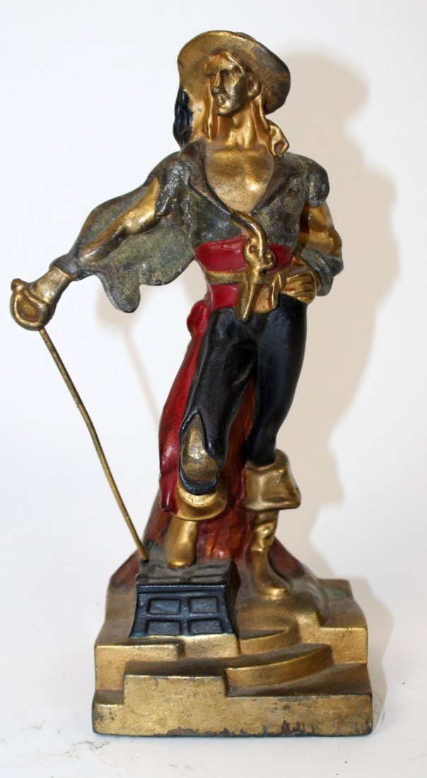 Pair of  Art Deco pirate bookends - 2