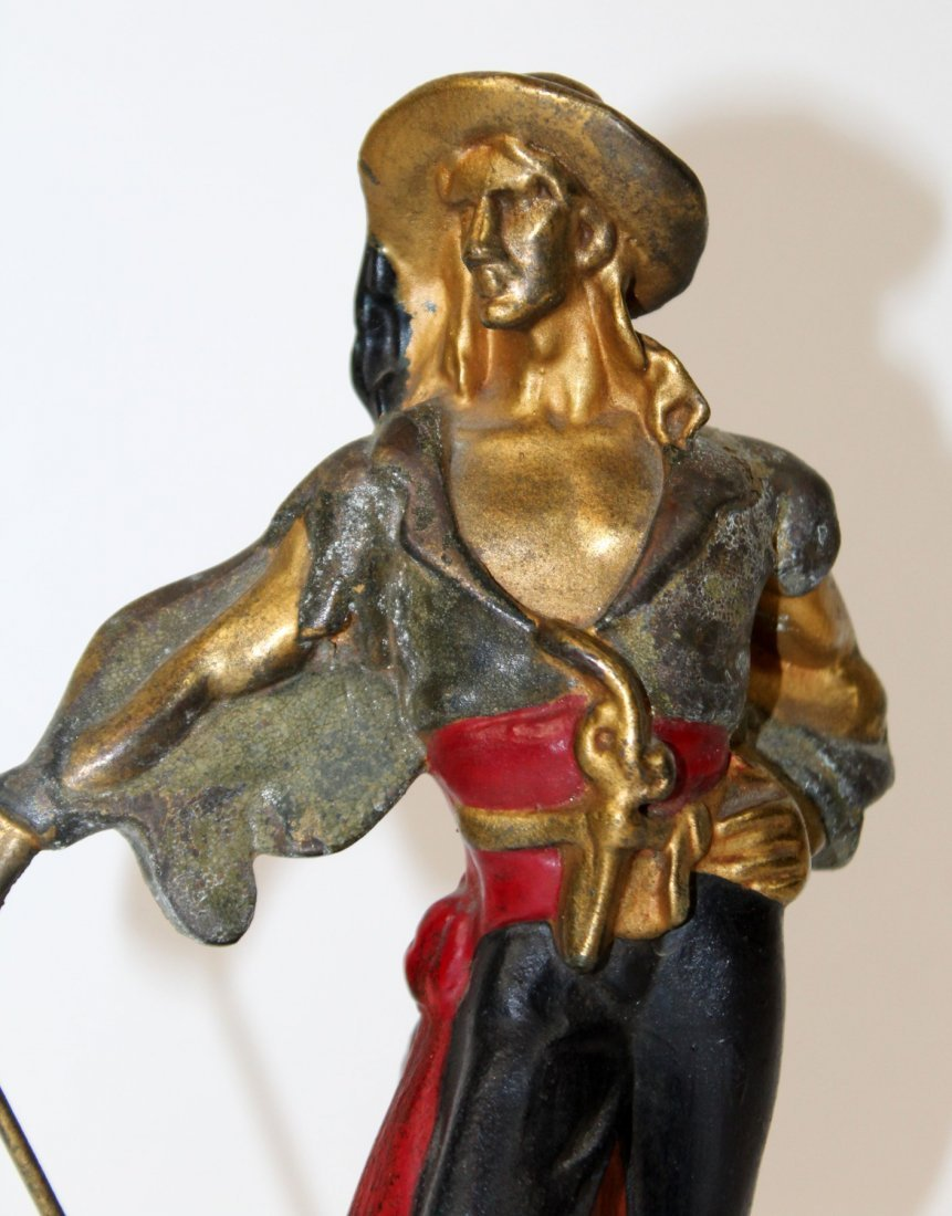 Pair of  Art Deco pirate bookends - 3