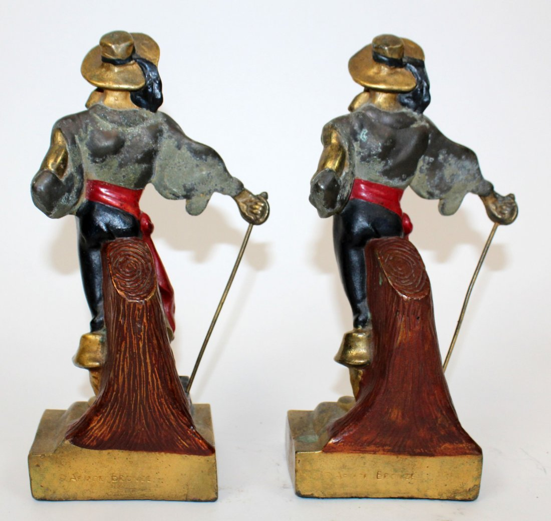 Pair of  Art Deco pirate bookends - 5
