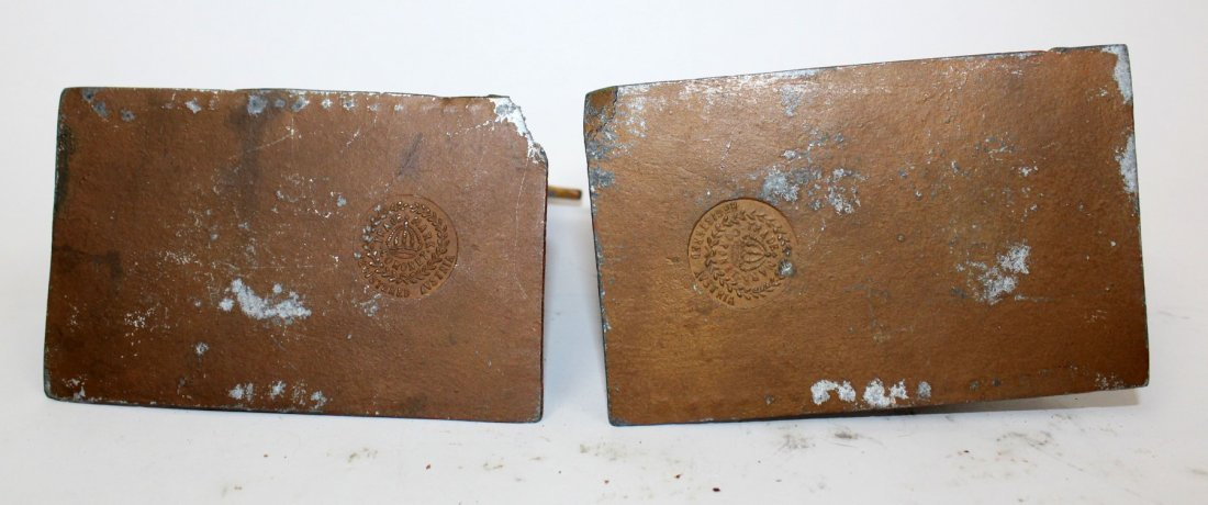 Pair of cold painted bronze bookends - 6