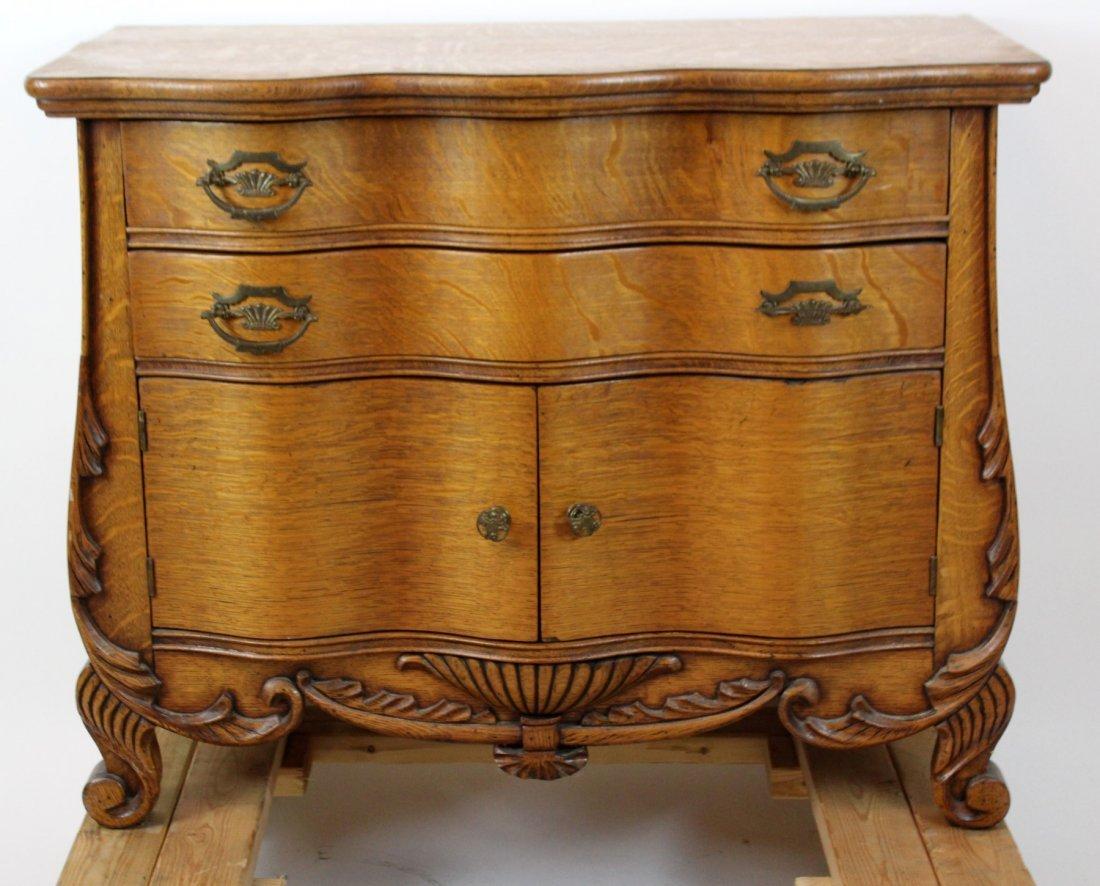 American oak 2 door chest
