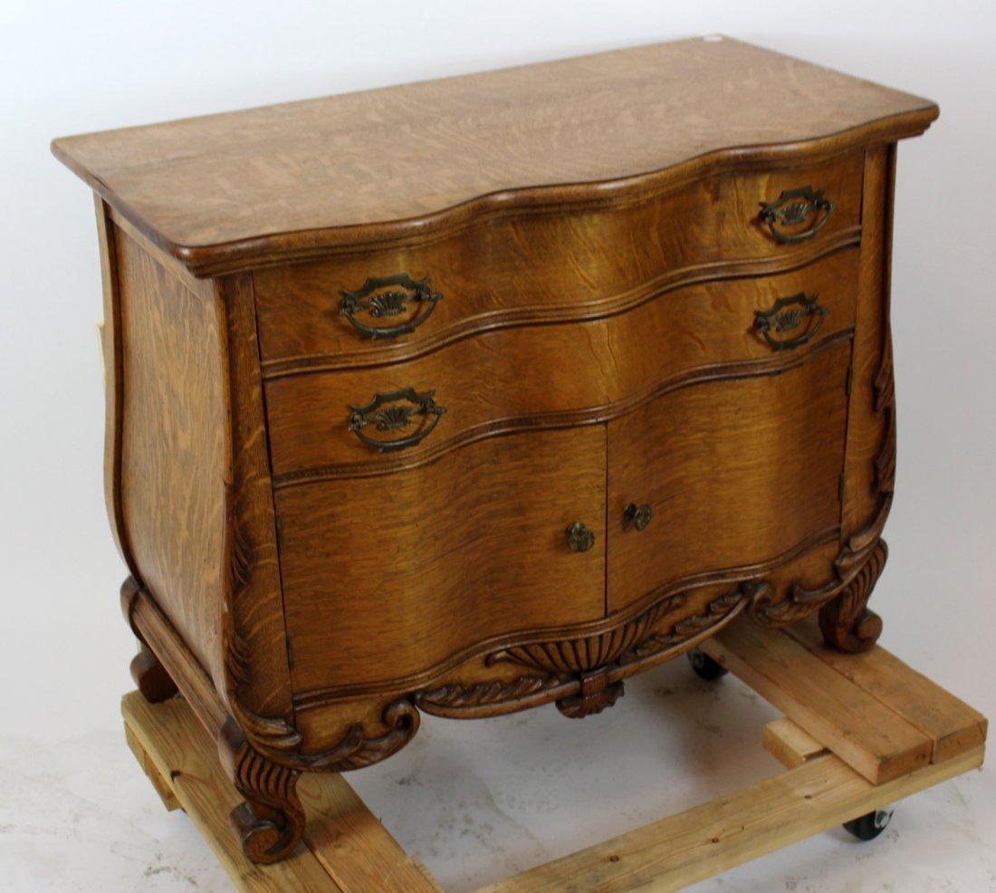 American oak 2 door chest - 3