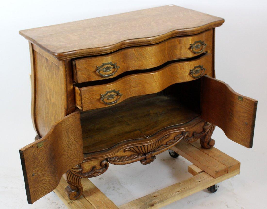 American oak 2 door chest - 4