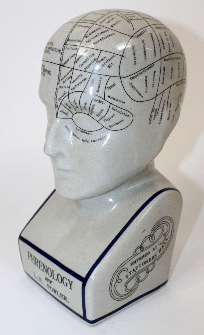 Ceramic Phrenology head - 2