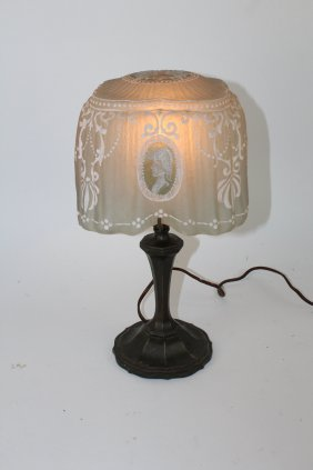 Pairpoint puffy boudoir lamp