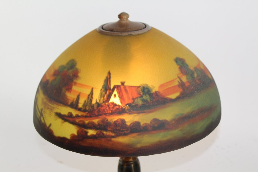 Jefferson reverse painted table lamp - 4