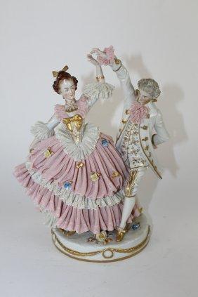 German porcelain Dresden figurine man & woman