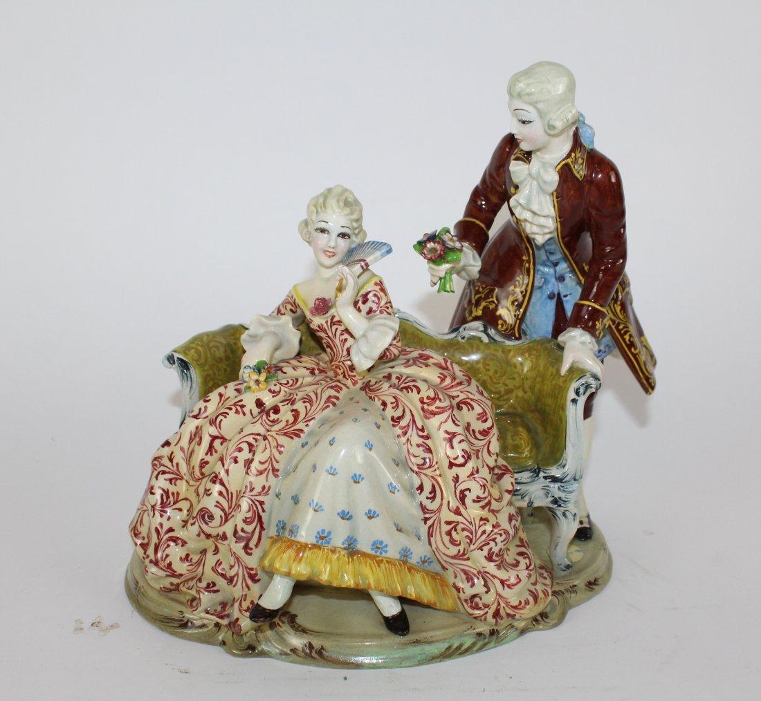 Italian porcelain figurine T. Sebelin