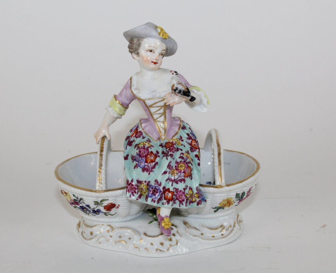 German porcelain figurine AR mark on bottom