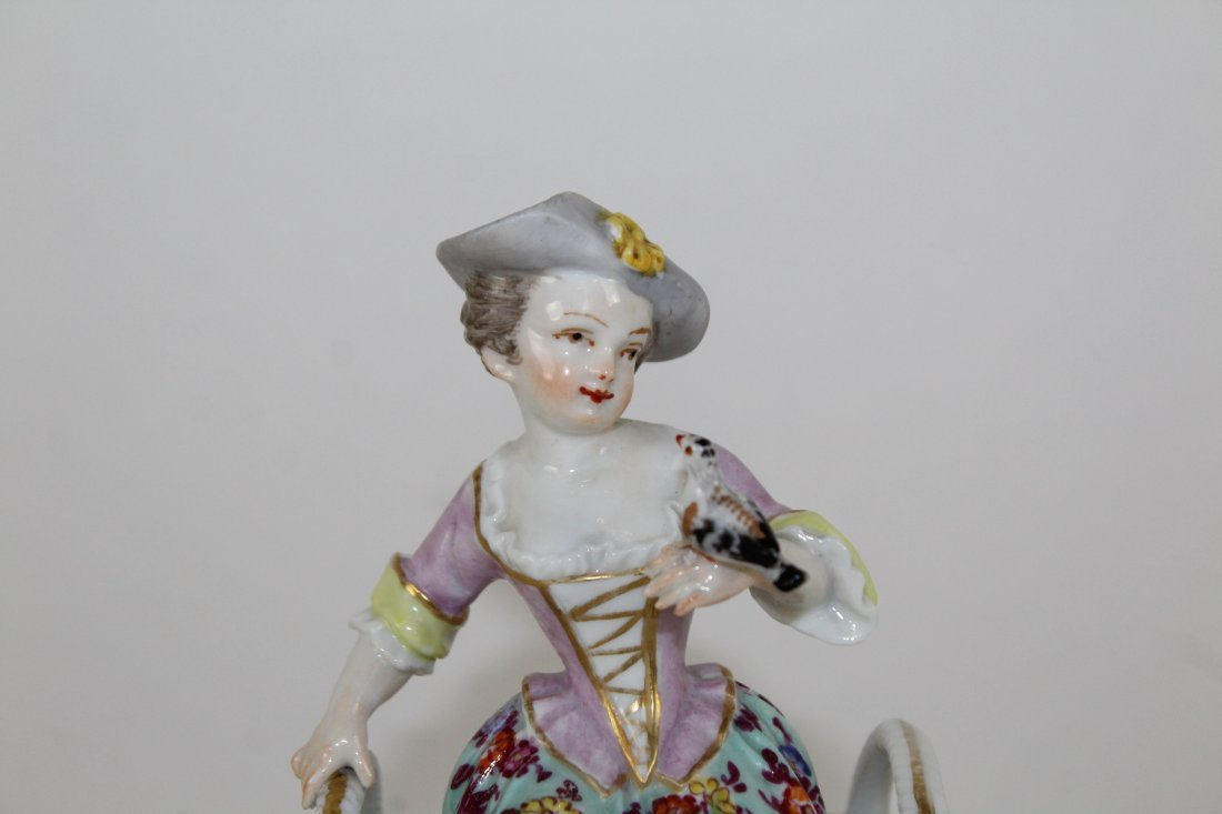 German porcelain figurine AR mark on bottom - 2