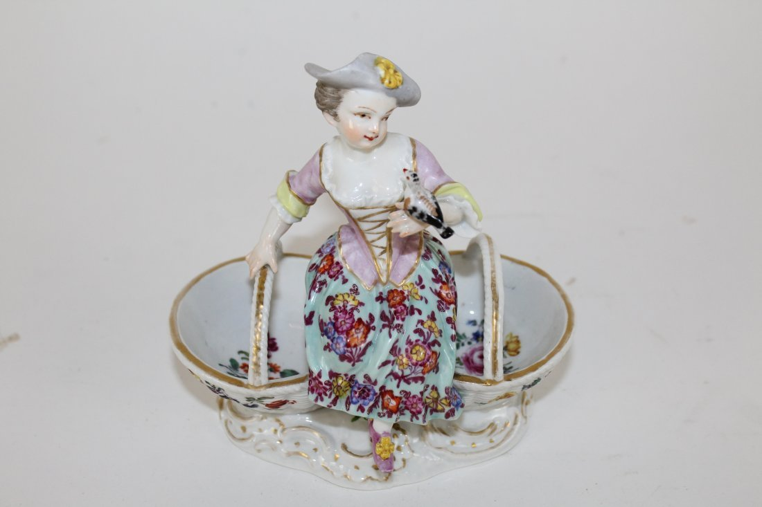 German porcelain figurine AR mark on bottom - 3