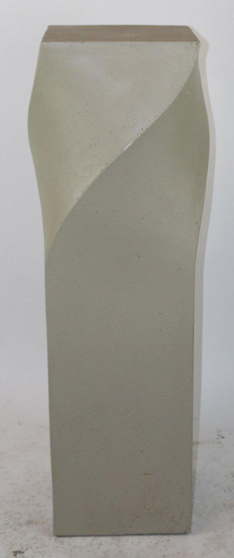 Modern cast twist pedestal - 2