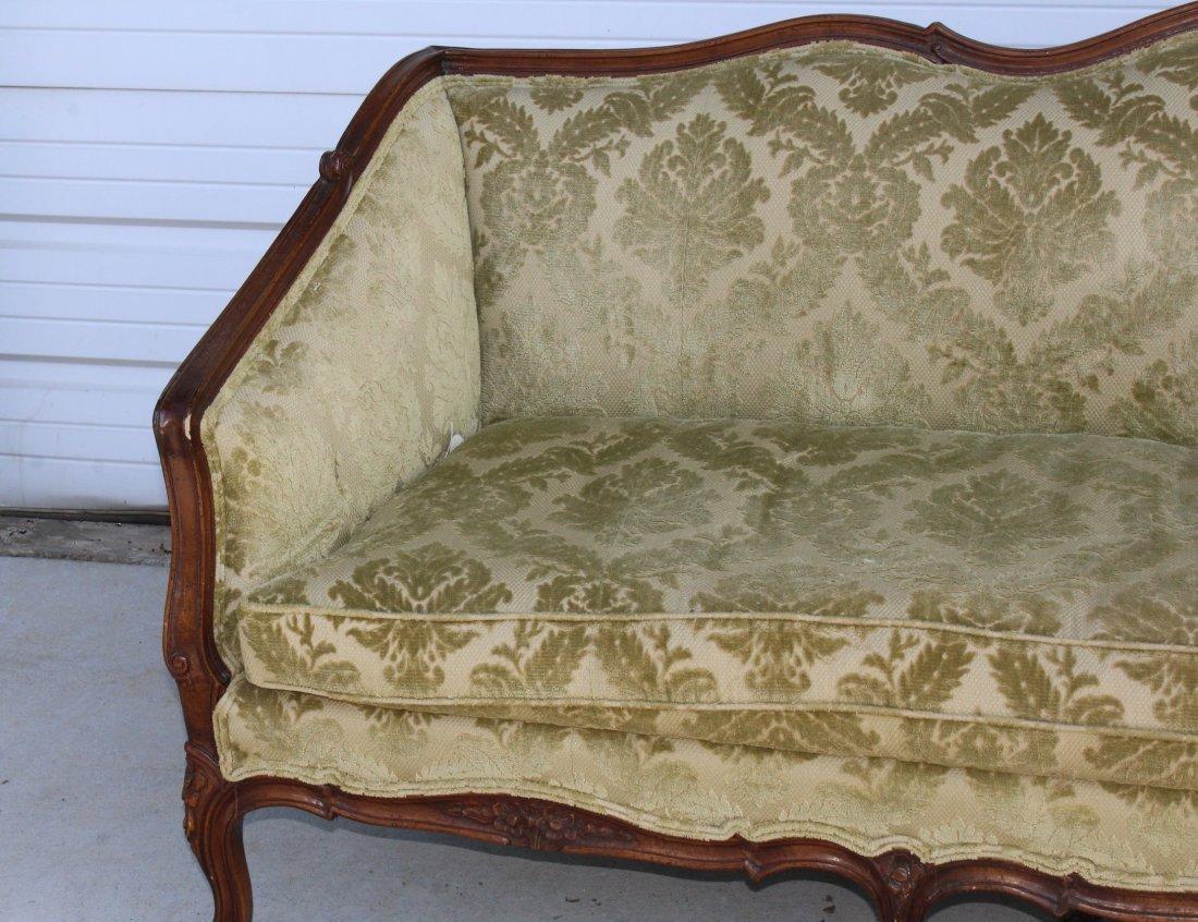 French Louis XV carved walnut sofa - 2