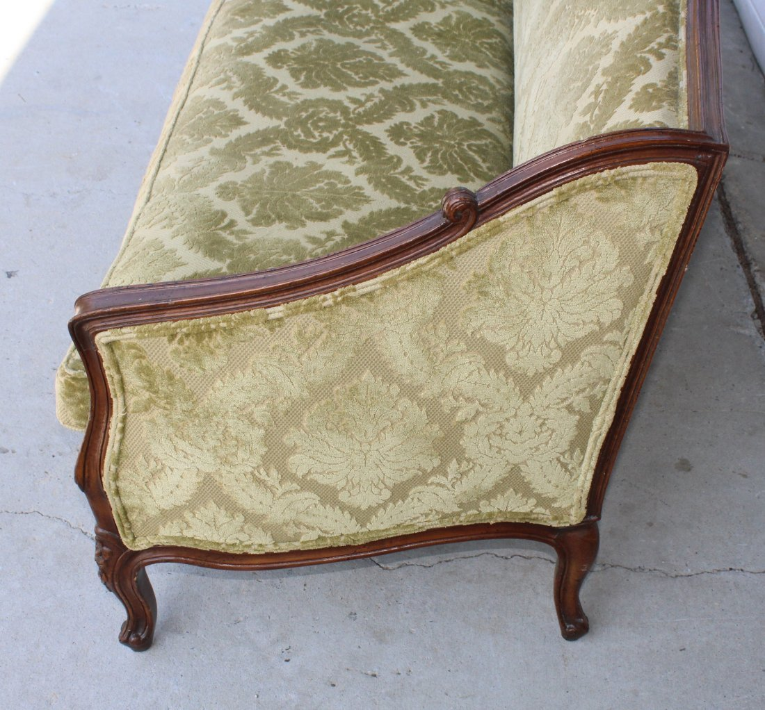 French Louis XV carved walnut sofa - 3