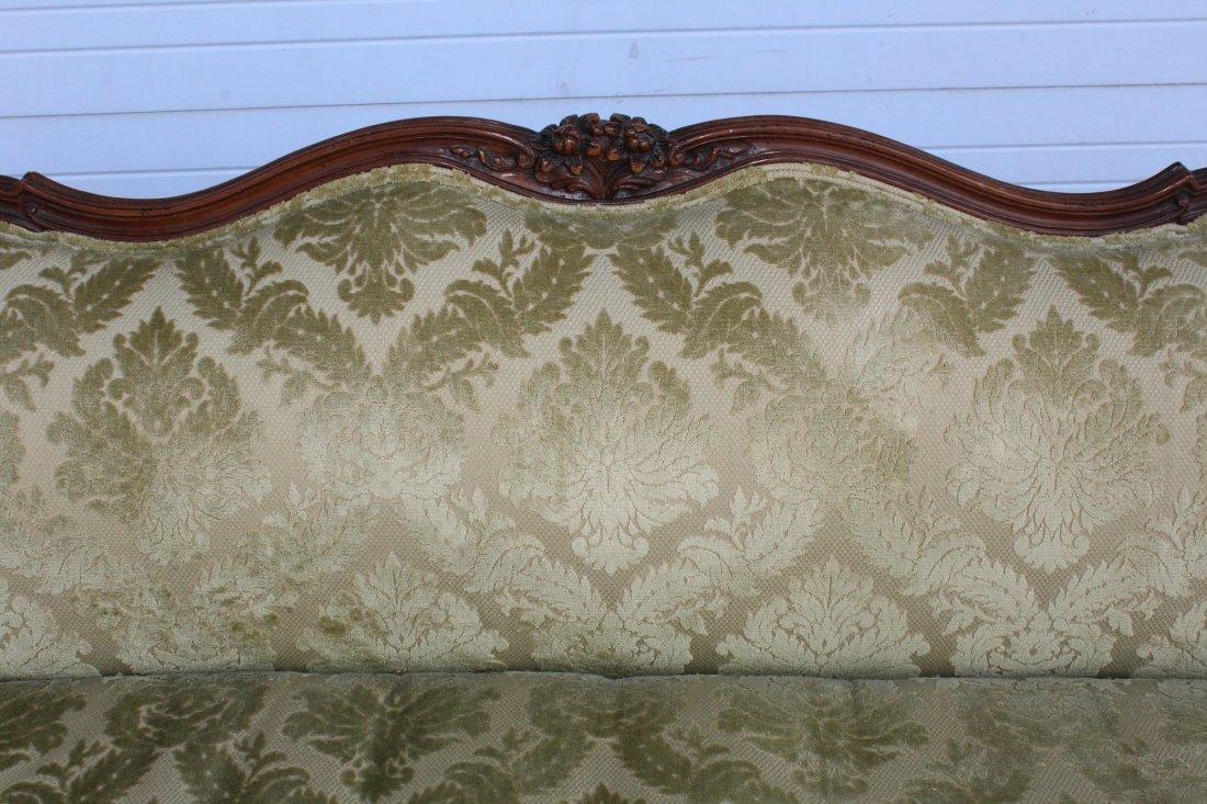 French Louis XV carved walnut sofa - 4
