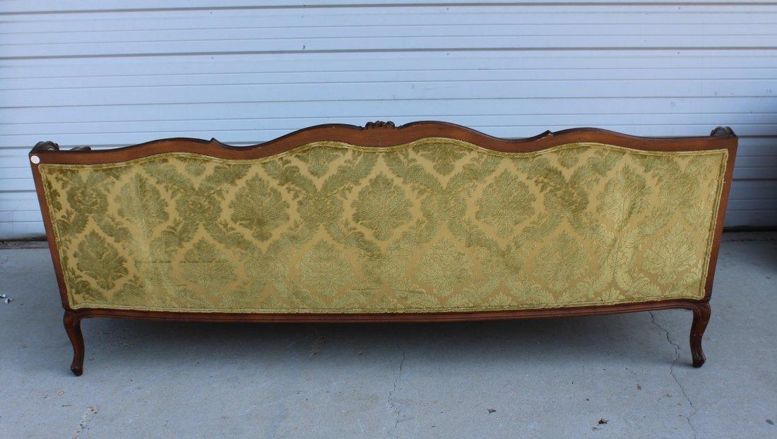 French Louis XV carved walnut sofa - 5