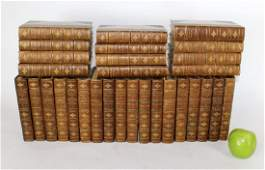 30 volume leather bound Works of Charles Dickens