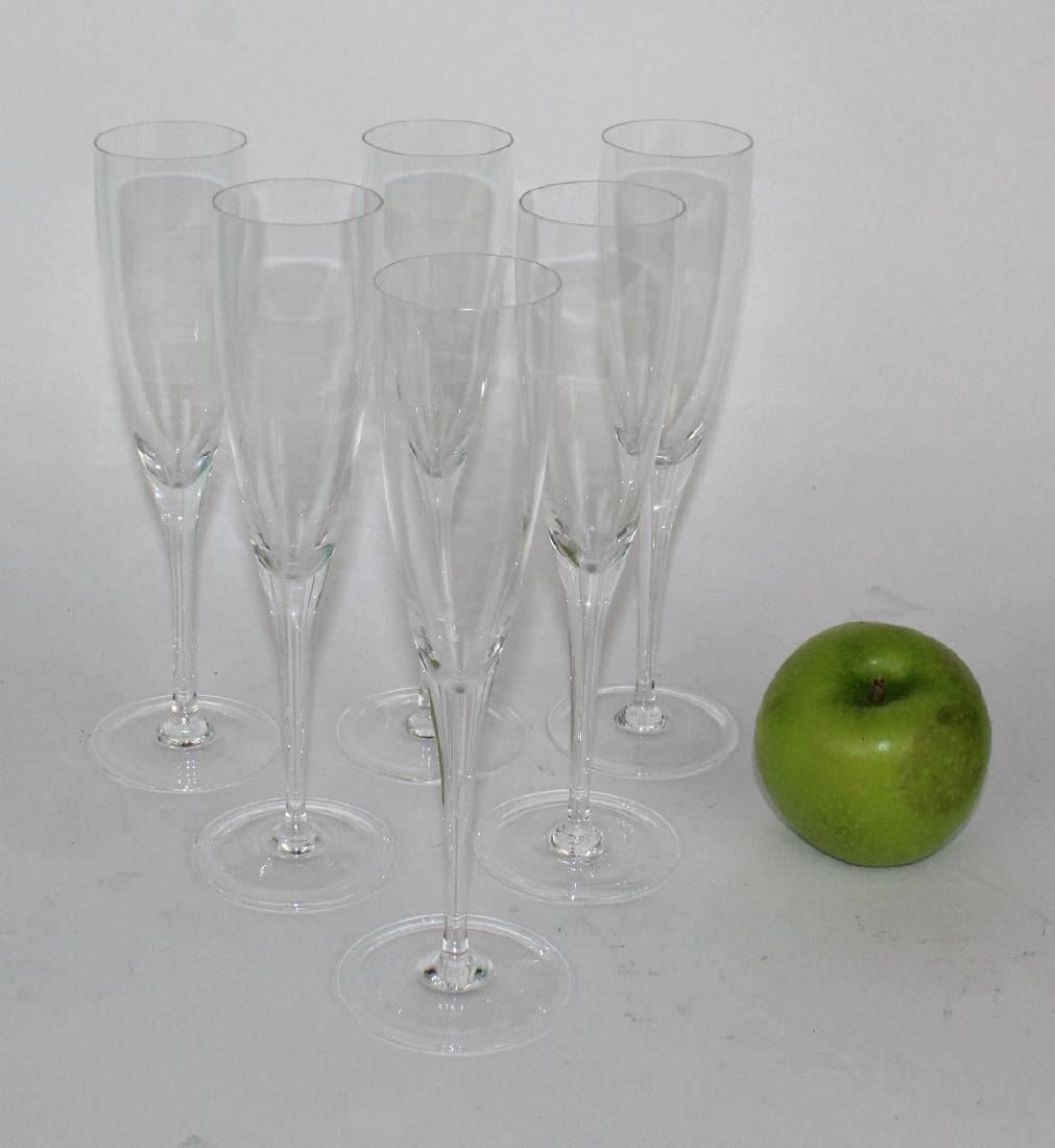 6 William Yeoward Lillian crystal flutes