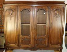 French Louis XV walnut bookcase