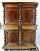 French 18 th c Louis XIII buffet a deux corps
