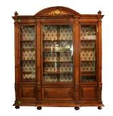 French 19th century walnut bookcase