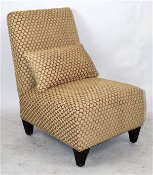 Modern Silver Gilt And Upholstered Slipper Chair Oct 05 2019 Stair In Ny