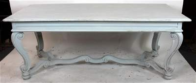Italian Tuscan painted dining table