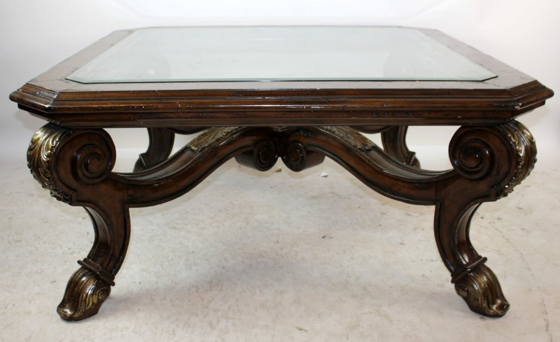 Marge Carson Palermo mahogany cocktail table