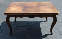 French Louis XV walnut drawleaf dining table