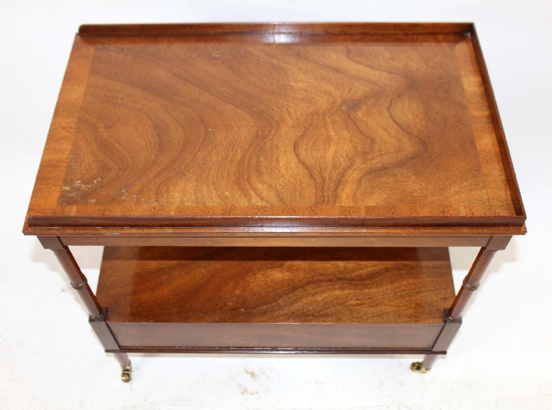Vintage Baker tiered side table - 4