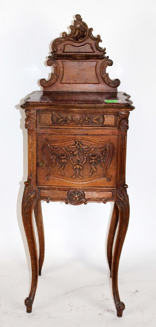French Louis XV chevet in walnut