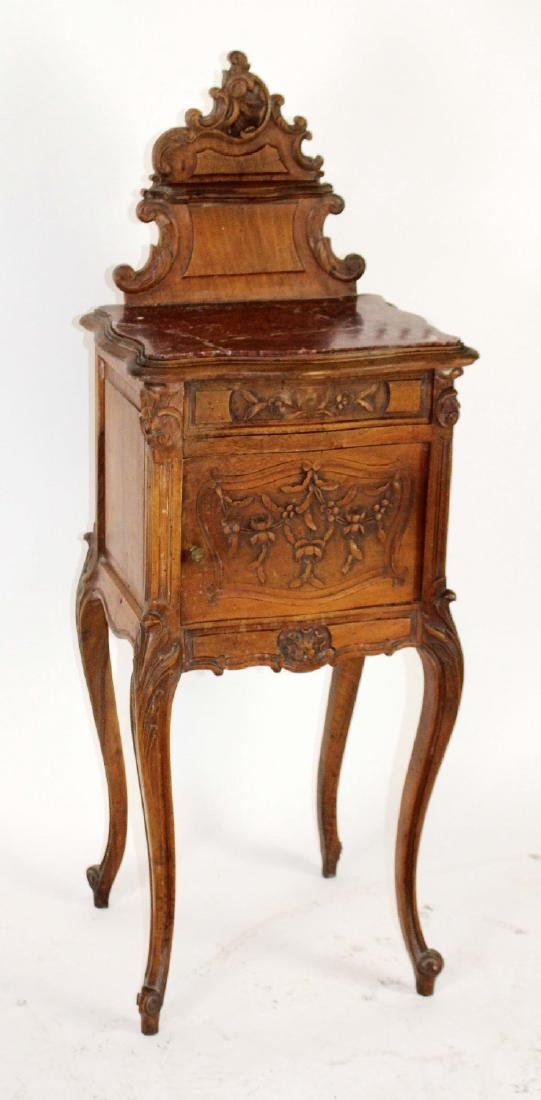 French Louis XV chevet in walnut - 3