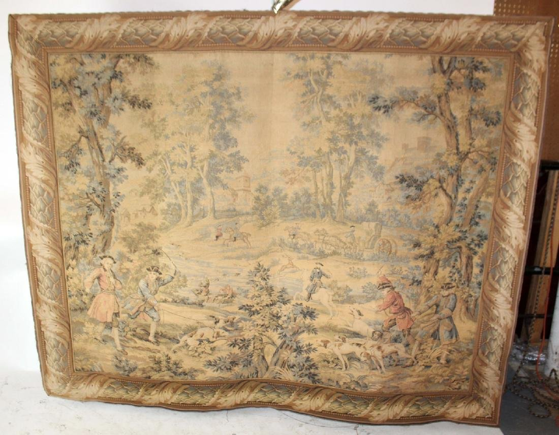 French Hunt scene tapestry