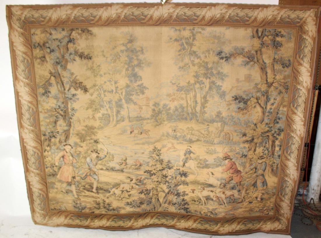 French Hunt scene tapestry - 3