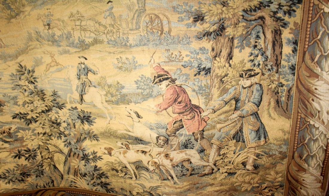 French Hunt scene tapestry - 5