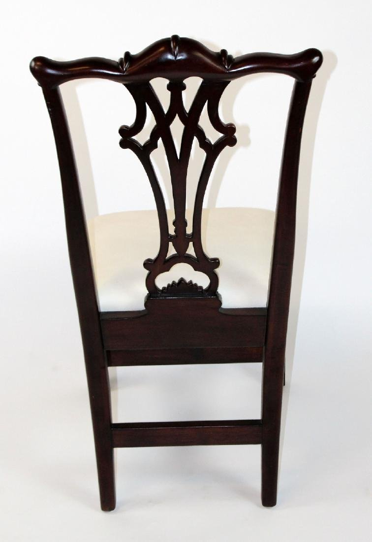 Set of 8 Chippendale style mahogany side chairs - 2