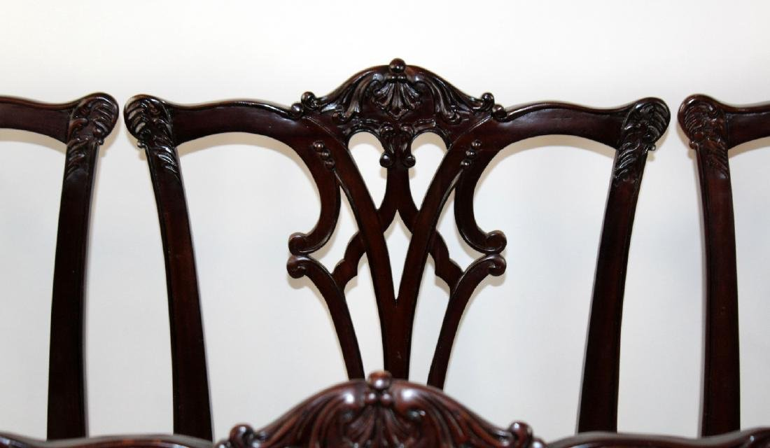 Set of 8 Chippendale style mahogany side chairs - 4