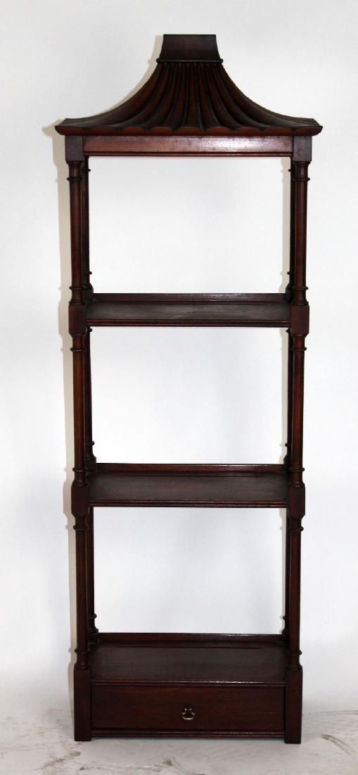 Chinese Chippendale mahogany wall shelf